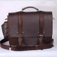 Leather Laptop Bag by CraftedSteampunk