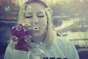 bubbles and bokeh by RagedyOldBitch