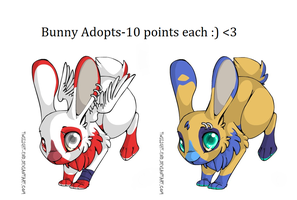 Bunny Adoptables! CLOSED! by PurplePeople1995