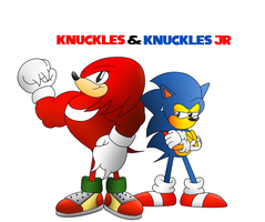 Knuckles and Knuckles Jr by ClassicSonicSatAm