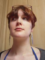 Me Wearing Jellyfish Earrings 1 by lily-inabottle