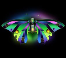 Jeweled Butterfly by Tempest116