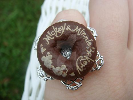 Mickey-Minnie Doughnut Ring by kjtgp1