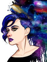 I can totally fathom my thoughts into galaxies by JessCurious