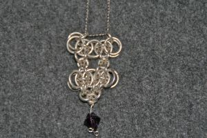 Chainmaille Pendant by caerul