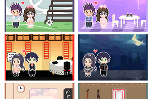 Pixel couples- Tachikawa Edition by MizumiHisui