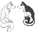 Two Wolves Shadow and Snow by YugiDMega