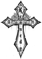 Cross - Custom Tattoo design by 13star