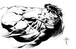 Hulk commission inks by JonathanGlapion