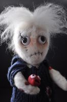Needle felt OOAK doll by dolldrums