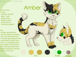 Amber reference sheet by serenitywhitewolf
