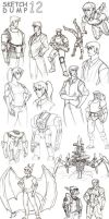Sketchdump 12 by Dadrick