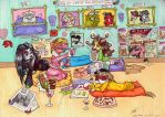 Naggies Slumber party by megaphonnic