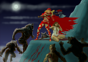 If Frank Frazetta illustrated Red Riding Hood v3 by Nick-Perks