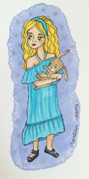 Alice and her rabbit by Mooniilla