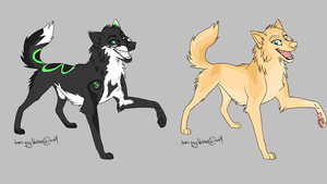 Wolf Adoptables set #1 by IceyAdoptions