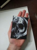 Palm Cross Skull Pen. by MagnaSicParvis