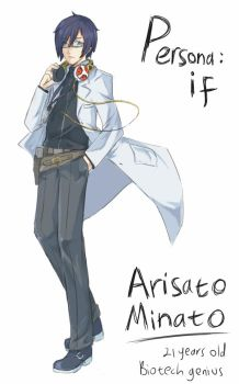 Persona: If_Minato Concept art by void-contains-all