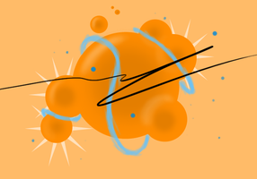 Orange Atom by ClearVector