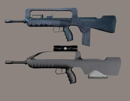 FAMAS 12 x Battle rifle by Robotlouisstevenson