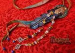 Leather Raven Feather Lariat 1 by merimask
