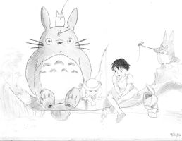 My Neighbor Totoro by BryThatDrawingGuy