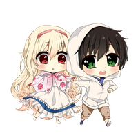 Mary And Seto Chibi by sunnymelodyy