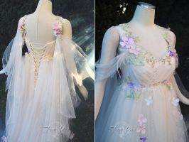 Meadow Mist Bridal Gown Details by Lillyxandra