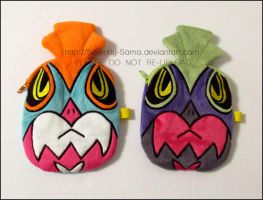 Zipper Pouch: Hawlucha and Shiny Hawlucha by Serenity-Sama