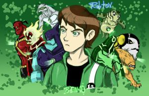 Ben 10 original aliens by rubtox