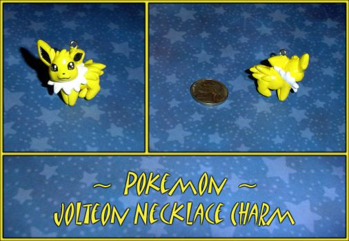 Pokemon - Jolteon Necklace Charm - Eeveelution by YellerCrakka