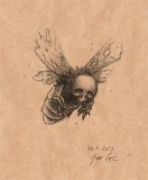 Monster per Day, Jan 10th ''Grave Moth'' by SirJarva
