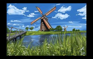 The Old Windmill by SHENRON89