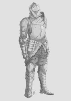 Unkindled Knight - Sketch by Ariarin