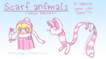Scarf Animals, OPEN SPECIES you can wear by unishamaani