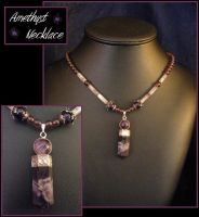 Amethyst Necklace by BacktoEarthCreations