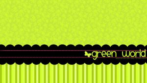 Wallpaper Green World by Isfe