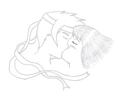 Kiss of love -black and white- by Zephir-Zophar