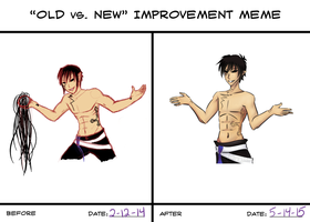Improvement meme by PuzzlingPredicament