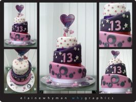 13th birthday cake by elainewhy