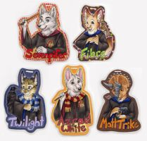 Harry Potter Badges by SilentRavyn