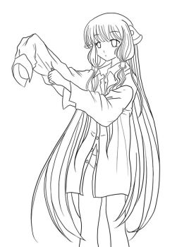Chobits: Chii LineArt by Ayare-chan