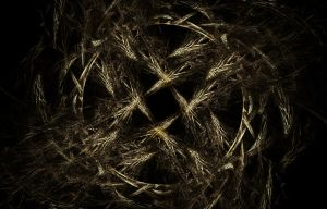 Aged Nest of Woven Weathered Wooden Webbing by Snakesan