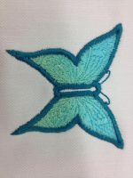 Butterfly Buttonhole Embroidery Design by Creation-Vocation