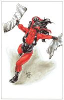 Fan Expo Van 2014 Red She Hulk Colours by mechangel2002