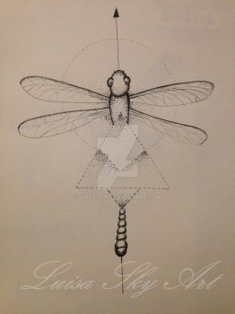 Libelle Sketch by LuisaSky