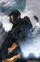 Master Chief and Cortana - Battle Artist Entry by freaxel