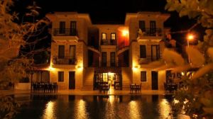 Tashan Hotel at night - Kas by Navvyblue
