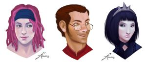 NPC portraits by thundercake