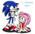 sonic and amy by super-amy
